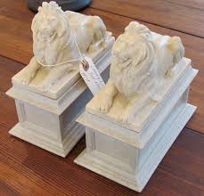 marble lion bookends patience fortitude bookends hook antique center