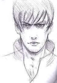 face sketch cool pose by vimes da on deviantart