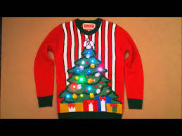 christmas tree jumper with lights led lighted christmas jumper sweater with flashing lights youtube