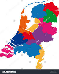 Map Of Netherlands Map Administrative Divisions Netherlands Stock Vector 38648179