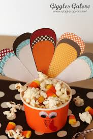 thanksgiving cups turkey treat cups
