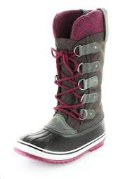 s boots pink sorel s joan of arctic knit winter boots shale mount mercy
