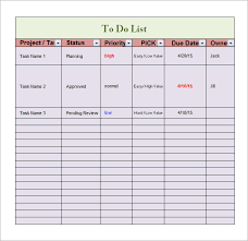 Todo List Template Excel To Do List Template 16 Free Documents In Word Excel Pdf