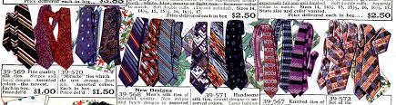 history 1920s mens ties neckties bowties