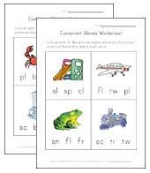 consonant blend worksheets all kids network