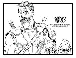coloring page thor coloring page cute pages thors hammer thor