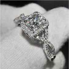 white topaz rings images Classic princess cut white topaz diamonique 925 silver wedding jpg