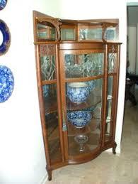 Corner Glass Display Cabinet Ebay Corner China Cabinet Beautiful Century Mahogany Curved Glass