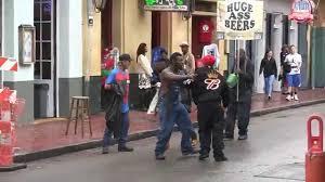 new orleans trip december 2014 street fight on bourbon street