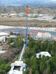 Six Flags Magic Mountain Fire Superman Escape From Krypton Roller Coaster Superman Wiki