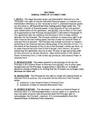 Sample Letter Of Power Of Attorney by Wisconsin Revocation Power Of Attorney Form Power Of Attorney