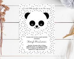 Panda Baby Shower Invitations - panda baby shower invitations etsy