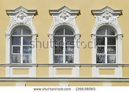 window decorated portico balusters stock photo 104180972
