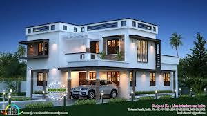 kerala home design with free floor plan feet meters modern house plan via story luxury home design square