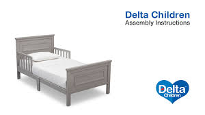 Converting Crib To Toddler Bed Manual Delta Children Classic Toddler Bed Assembly