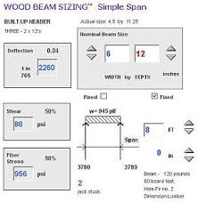 Lvl Span Table by Wood Beam Sizing