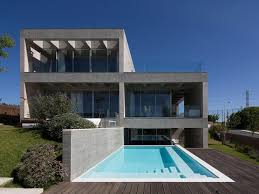 a concrete double villa in switzerland dwell glass and facade