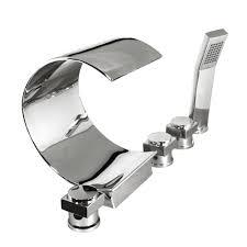 bathroom waterfall roman tub filler with handshower bathtub