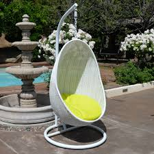 White Wicker Bedroom Chairs White Neon Yellow Egg Shape Wicker Rattan Swing Bed Chair Weaved
