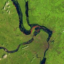 Map Of The Mississippi River Great Flood Of The Mississippi River 1993 Image Of The Day