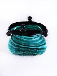 Murano Glass Purse Vase Murano Marbleized Glass Hand Bag Murano Glass Purse U0027s Brown