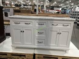 White Vanity Bathroom Inspiring Double Vanity Bathroom Cabinets And Costco Intended For
