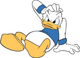 classic cartoon style clip art image donald duck free vector