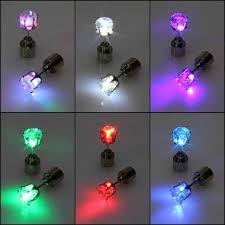 light up earring studs 1pc light up led earring ear stud party accessories party