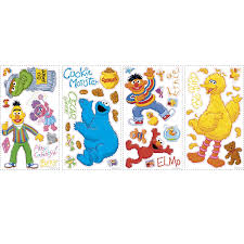 roommates rmk1384scs sesame street peel u0026 stick wall decals wall