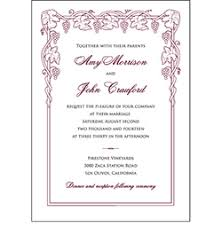 vineyard wedding invitations winery wedding invitations wine wedding invitations