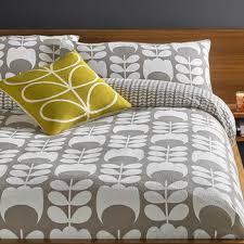 buy orla kiely giant stem flannel duvet cover granite amara