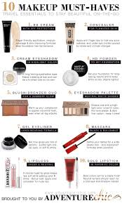 10 Must Travel Essentials For by 10 Makeup Must Haves For Travel This Has Tons Of Travel