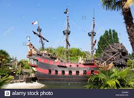 pirate ship in disneyland paris in the pirates of caribbean area