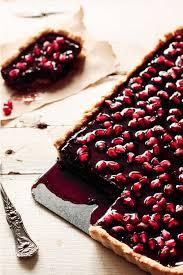new year chocolate chocolate pomegranate tart happy christmas new year party