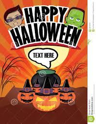 happy halloween funny happy halloween cartoon poster stock vector image 59910034