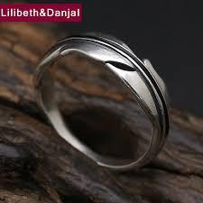 vintage love rings images Tree leaf 925 sterling silver ring men women jewelry vintage jpg