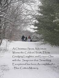a christmas snow snow quote blue cotton memory