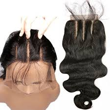 short hairstyles with closures amazon com 3 part lace closure 4x4 body wave human hair closure