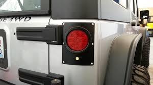 led lights for jeep wrangler pandemic led tail light conversion kit flush mount 4 round w red