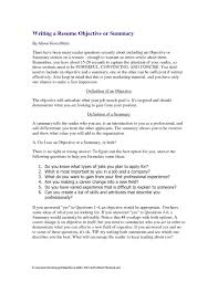 resume objectives writing tips resume writing objective section exles exles of resumes