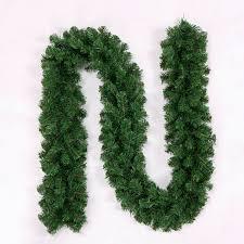 2 7 meters pine artificial wreath garland unlit in tree