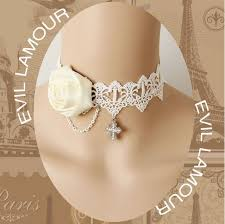 lace accessories handmade lace necklace white wedding dress accessories and
