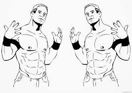 wwe coloring pages printable coloring4free coloring4free com
