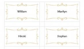 Wedding Place Cards Template Avery Place Card Template Avery Place Cards Template Haven