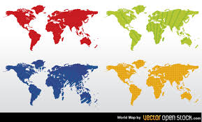 free world maps color world map vector free vectors 365psd
