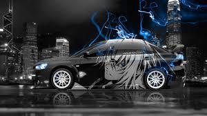 4k mitsubishi lancer evolution x jdm side anime boy city car 2015