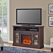fireplace electric tv console stand media center 50 u2033 wood open