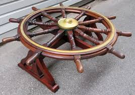 18th century english mahogany frigate ship u0027s wheel coffee table c