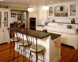 interior cottage style kitchen design with double brushed nickel