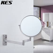 swivel bathroom mirrors kes sus304 stainless steel bathroom 5x magnification two sided